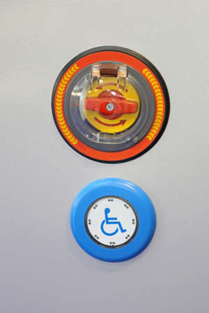Handicap Activation Push Button With Emergency Stop Control