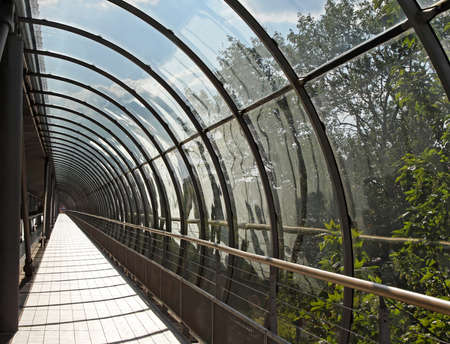 Pedestrian Tunnel With Glass Arch Cover Structure