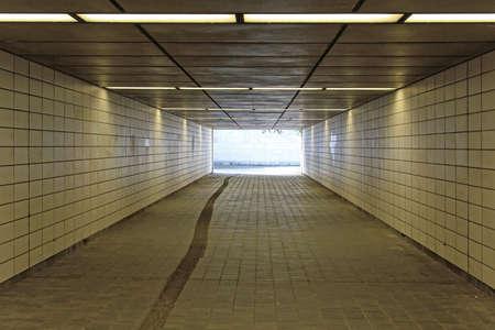 Empty Underpass Subway Tunel Passage for Pedestrians