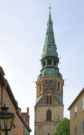 Protestant Church Tower in Hanover Germany