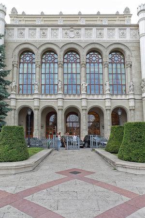 Budapeszt, Węgry - 13 lipca 2015: Sala koncertowa Vigado Buildng w Budapeszcie, Węgry. Publikacyjne