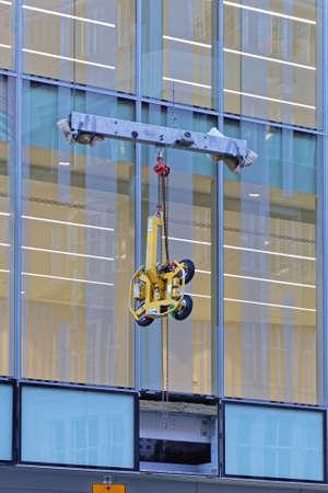 Vacuum Window Lifting  Equipment at Glass Building