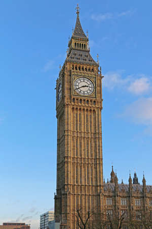 Big Ben Clock Elizabeth Tower Famous London Landmark Stock Photo