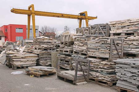 Gantry Crane at Marble Stone Warehouse Yard