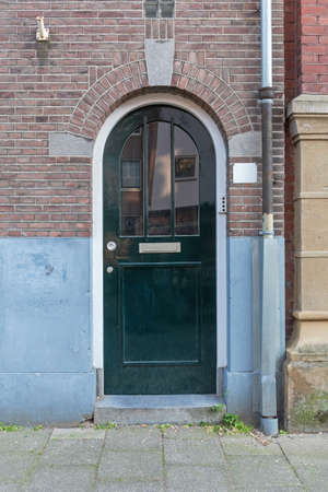 Green Arch Glass Door House Entrance