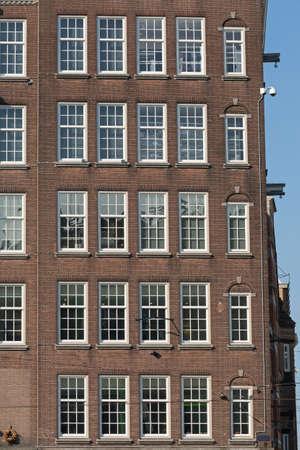 Many Windows at Brown Bricks Building Amsterdam