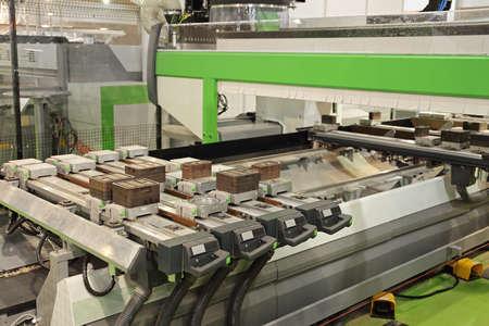 Big Production Cnc Machine in Wood Work Shop