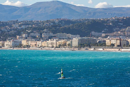 Mediterranean Sea and French Riviera in Nice France