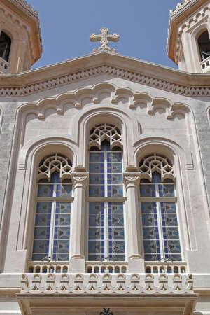 Front VIew of Church in Dubrovnik Croatia Archivio Fotografico