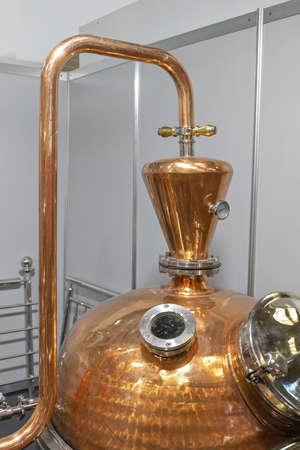 Classic Copper Distilling Alcohol Still Brewery Equipment Imagens