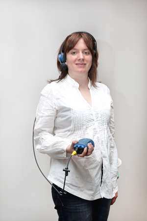 Woman With Pick by Voice Picking System Control