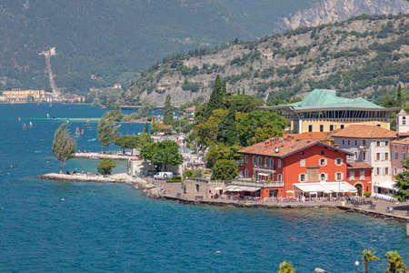 Nago Torbole Town at Garda Lake in Italy Archivio Fotografico