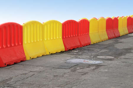 Plastic Barriers Filled With Water