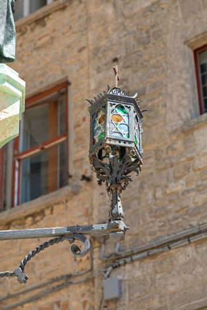Ornate Glass Street Light in San Marino