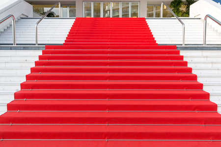 Red Carpet at Festival Hall in Cannes France Day