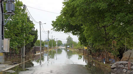 Flooded Road After Heavy Rains in Lower Town