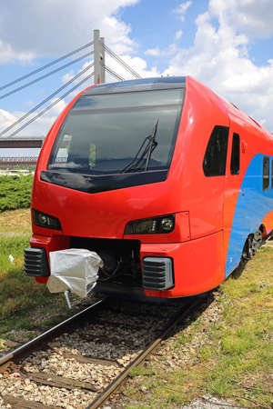 Front View of New Electric Engine Train