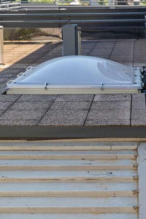 Domed Acrylic Skylight Window at Flat Roof