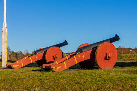 Two Big Cannons Guns in Fredrikstad Norway