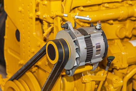 Electric Alternator Belt and Pulley at Big Engine