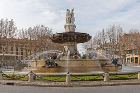 Fontaine de la Rotonde in Aix en provence France