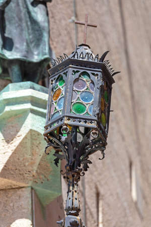Ornate Glass Street Light in San Marino