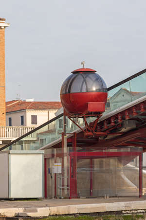 Cabin for Transport Wheelchair Over Bridge in Venice Italy