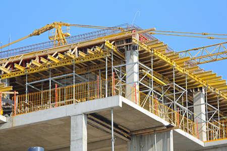 Construction Site of New Skyscraper Building Industry