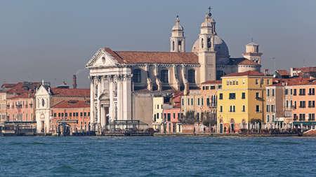 Santa Maria del Rosario Church at Giudecca Canal in Venice 写真素材