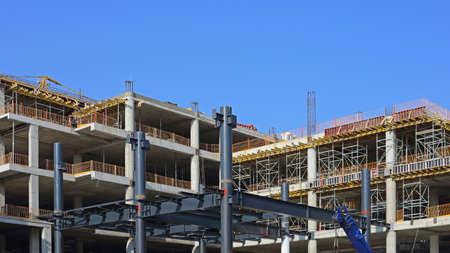 Building Site of New Skyscraper Construction Industry