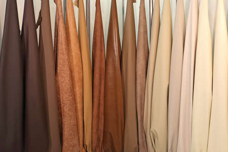 Real Leather Material in Beige and Brown Colours