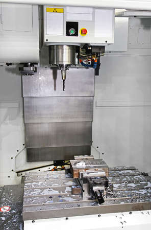 Interior of Automated Boring Machining Centre Machinery Workshop