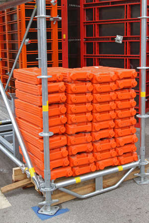 Scaffoldings and Frameworks at Building Construction Site Weight Support