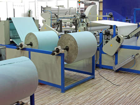 Big rolls of paper prepared for printing Banque d'images