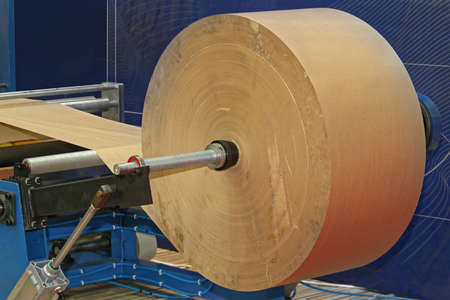 Big Roll of Recycled Paper Prepared for Printing Stok Fotoğraf