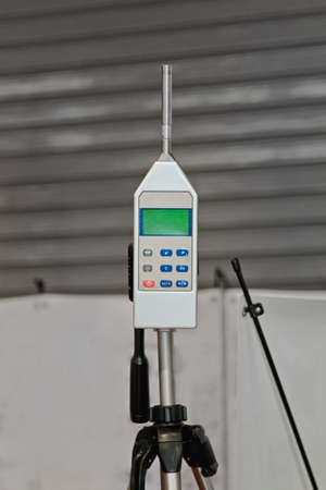 Sound Level Meter and Noise Pollution Analyzer Banque d'images