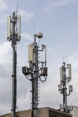 Cell Phone Tower Wireless Internet Antenna Pole Signal