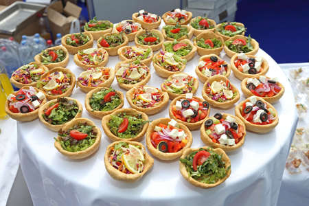Canapes Pastry Food Served at Party Catering