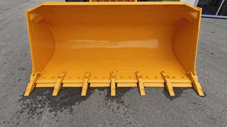 Big Yellow Bucket Scoop at Front Loader Construction Machine Stock fotó