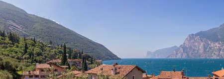Lake Garda Panoramic Landscape From Nago Torbole Italy