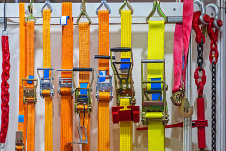 Ratchet Straps Fasteners for Freight Cargo Safety
