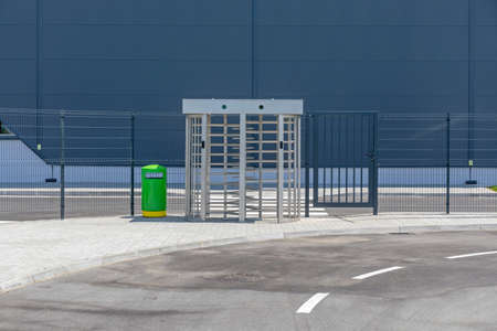 Turnstile Gate Access Control Entrance to Factory