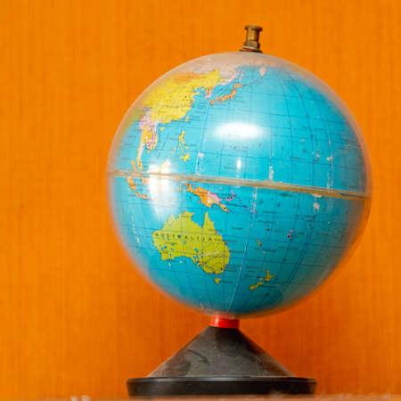 Old Plastic World Globe Travel Australia Ocean