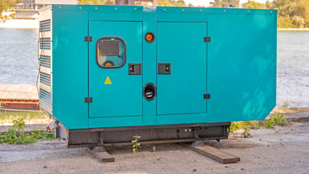 Big Diesel Power Stand By Generator at River Coast