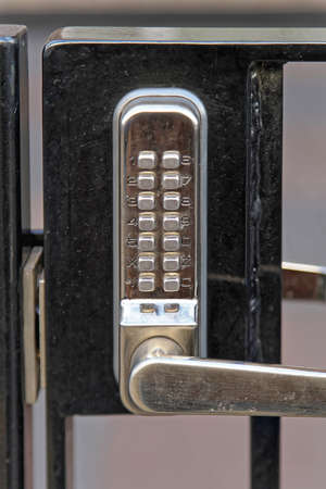 Electronic Lock With Pin Code at Gate Entrance