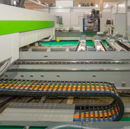 Cable Carrier Flexible Movement Protection at Cnc Machine