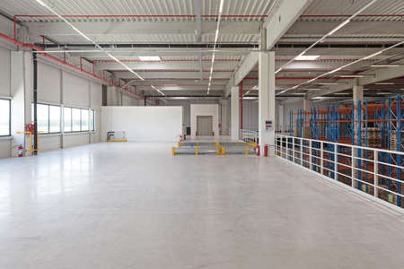 Empty Floor Space in Distribution Warehouse Interior