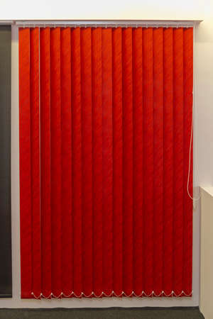 Modern Red Textile Vertical Window Blinds