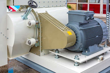 Big Electric Motor at Feed Machinery Industry Production Banque d'images