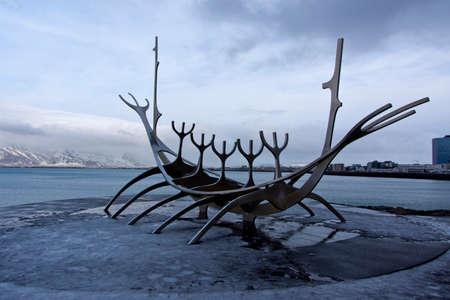 Sun Voyager sculpture, Reykjavik Iceland.